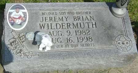 WILDERMUTH, JEREMY BRIAN - Montgomery County, Ohio   JEREMY BRIAN WILDERMUTH - Ohio Gravestone Photos