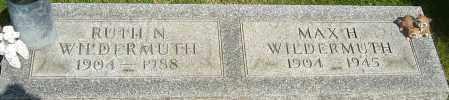 WILDERMUTH, MAX H - Montgomery County, Ohio | MAX H WILDERMUTH - Ohio Gravestone Photos