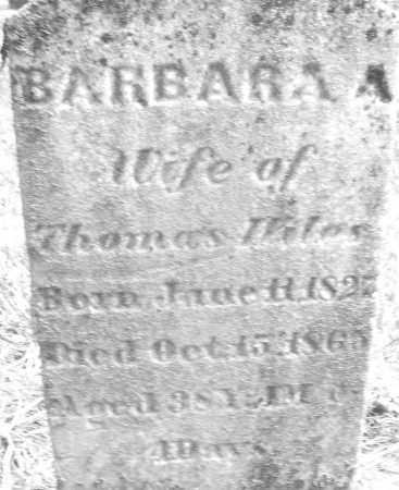 WILES, BARBARA A. - Montgomery County, Ohio | BARBARA A. WILES - Ohio Gravestone Photos