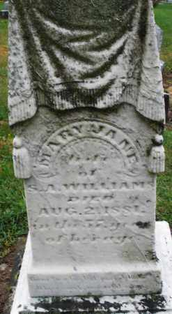 WILLIAMS, MARY JANE - Montgomery County, Ohio   MARY JANE WILLIAMS - Ohio Gravestone Photos