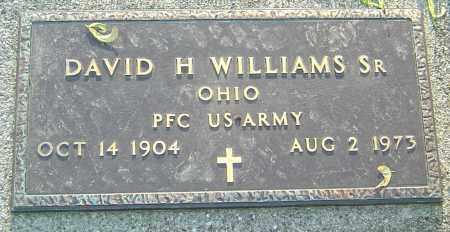 WILLIAMS SR,, DAVID H - Montgomery County, Ohio | DAVID H WILLIAMS SR, - Ohio Gravestone Photos