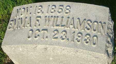 WELLER WILLIAMSON, EMMA FLORENCE - Montgomery County, Ohio | EMMA FLORENCE WELLER WILLIAMSON - Ohio Gravestone Photos
