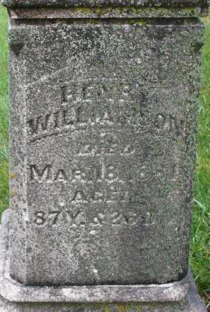 WILLIAMSON, HENRY - Montgomery County, Ohio | HENRY WILLIAMSON - Ohio Gravestone Photos