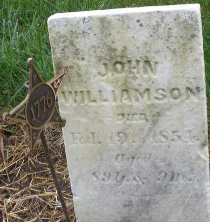 WILLIAMSON, JOHN - Montgomery County, Ohio | JOHN WILLIAMSON - Ohio Gravestone Photos