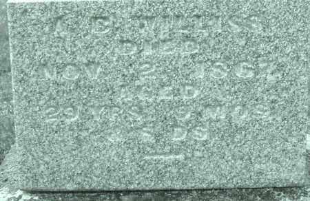 WILLISS, A.B. - Montgomery County, Ohio | A.B. WILLISS - Ohio Gravestone Photos