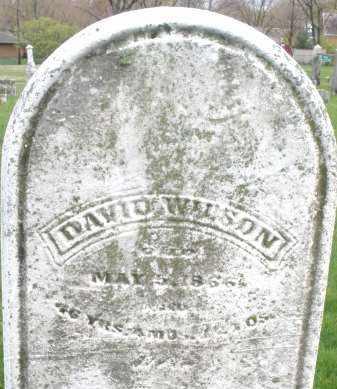 WILSON, DAVID - Montgomery County, Ohio   DAVID WILSON - Ohio Gravestone Photos