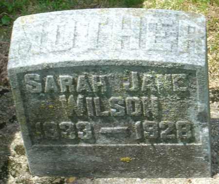 MCCLURE WILSON, SARRAH JANE - Montgomery County, Ohio | SARRAH JANE MCCLURE WILSON - Ohio Gravestone Photos