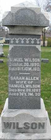ALLEN WILSON, SARAH - Montgomery County, Ohio | SARAH ALLEN WILSON - Ohio Gravestone Photos