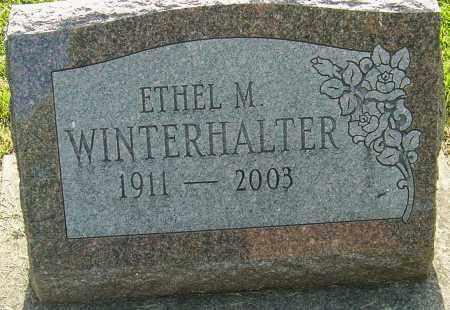 WINTERHALTER, ETHEL MAY - Montgomery County, Ohio | ETHEL MAY WINTERHALTER - Ohio Gravestone Photos