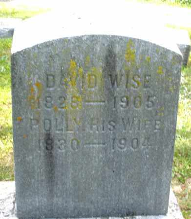 WISE, POLLY - Montgomery County, Ohio | POLLY WISE - Ohio Gravestone Photos