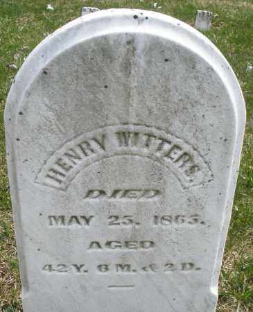 WITTERS, HENRY - Montgomery County, Ohio | HENRY WITTERS - Ohio Gravestone Photos