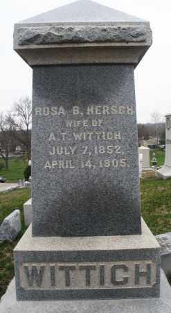 HERSCH WITTICH, ROSA B. - Montgomery County, Ohio | ROSA B. HERSCH WITTICH - Ohio Gravestone Photos