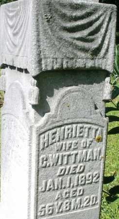 WITTMAN, HENRIETTA - Montgomery County, Ohio   HENRIETTA WITTMAN - Ohio Gravestone Photos
