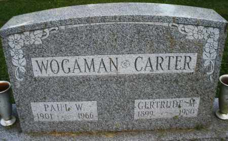CARTER WOGAMAN, GERTRUDE M. - Montgomery County, Ohio | GERTRUDE M. CARTER WOGAMAN - Ohio Gravestone Photos