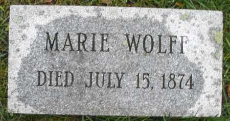 WOLFF, MARIE - Montgomery County, Ohio | MARIE WOLFF - Ohio Gravestone Photos