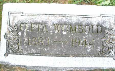 WOMBOLD, FIETA - Montgomery County, Ohio | FIETA WOMBOLD - Ohio Gravestone Photos