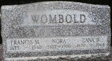 WOMBOLD, NORA - Montgomery County, Ohio | NORA WOMBOLD - Ohio Gravestone Photos