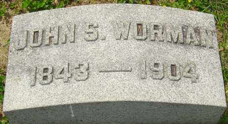 WORMAN, JOHN S - Montgomery County, Ohio   JOHN S WORMAN - Ohio Gravestone Photos