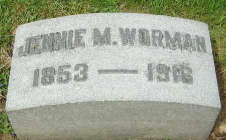 MILLER WORMAN, JENNIE - Montgomery County, Ohio | JENNIE MILLER WORMAN - Ohio Gravestone Photos