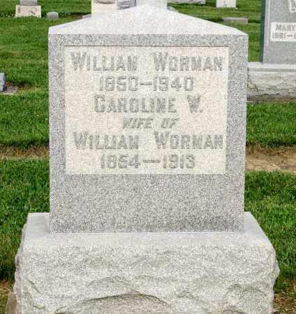 WORMAN, CAROLINE W. - Montgomery County, Ohio | CAROLINE W. WORMAN - Ohio Gravestone Photos