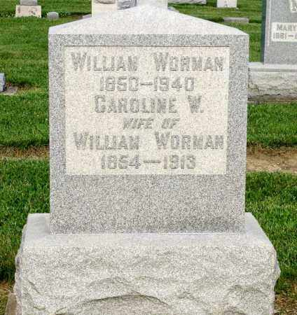 WORMAN, WILLIAM - Montgomery County, Ohio | WILLIAM WORMAN - Ohio Gravestone Photos