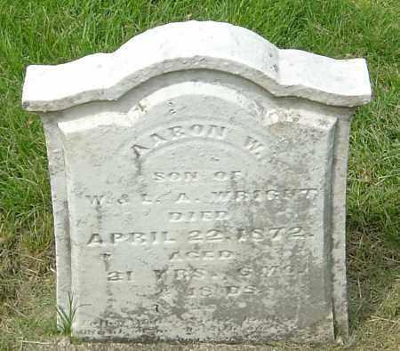 WRIGHT, AARON W - Montgomery County, Ohio | AARON W WRIGHT - Ohio Gravestone Photos