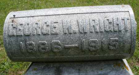 WRIGHT, GEORGE W. - Montgomery County, Ohio   GEORGE W. WRIGHT - Ohio Gravestone Photos