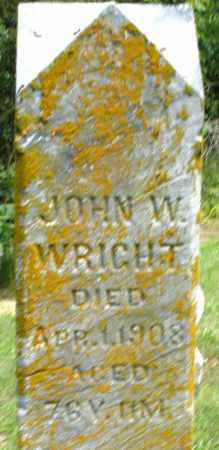 WRIGHT, JOHN W. - Montgomery County, Ohio   JOHN W. WRIGHT - Ohio Gravestone Photos