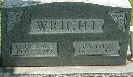 WRIGHT, LOUELLA B - Montgomery County, Ohio   LOUELLA B WRIGHT - Ohio Gravestone Photos