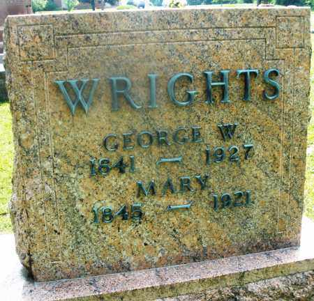 WRIGHTS, GEORGE W. - Montgomery County, Ohio   GEORGE W. WRIGHTS - Ohio Gravestone Photos