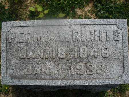 WRIGHTS, PERRY W. - Montgomery County, Ohio | PERRY W. WRIGHTS - Ohio Gravestone Photos