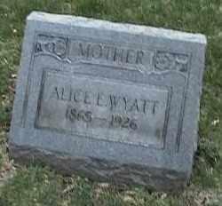WYATT, ALICE L. - Montgomery County, Ohio | ALICE L. WYATT - Ohio Gravestone Photos