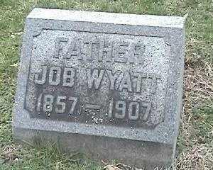 WYATT, JOB - Montgomery County, Ohio | JOB WYATT - Ohio Gravestone Photos