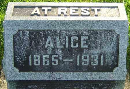 WYSONG, ALICE - Montgomery County, Ohio | ALICE WYSONG - Ohio Gravestone Photos