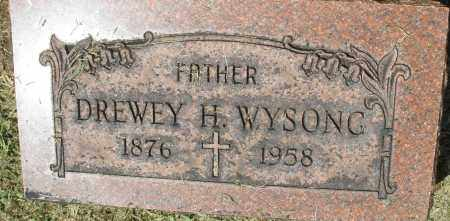 WYSONG, DREWEY H. - Montgomery County, Ohio   DREWEY H. WYSONG - Ohio Gravestone Photos