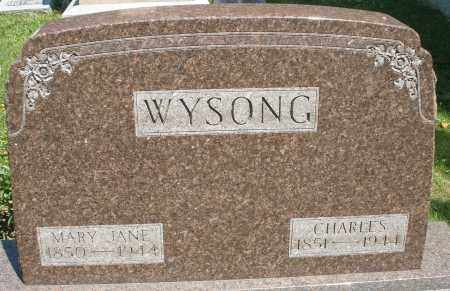 WYSONG, CHARLES - Montgomery County, Ohio | CHARLES WYSONG - Ohio Gravestone Photos
