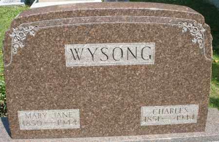 WYSONG, MARY JANE - Montgomery County, Ohio | MARY JANE WYSONG - Ohio Gravestone Photos