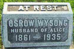 WYSONG, OSROW - Montgomery County, Ohio | OSROW WYSONG - Ohio Gravestone Photos