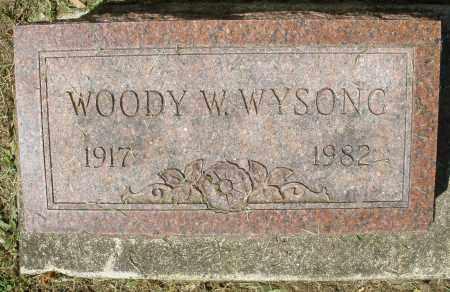 WYSONG, WOODY W. - Montgomery County, Ohio | WOODY W. WYSONG - Ohio Gravestone Photos