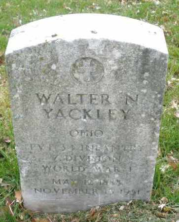 YACKLEY, WALTER N. - Montgomery County, Ohio | WALTER N. YACKLEY - Ohio Gravestone Photos