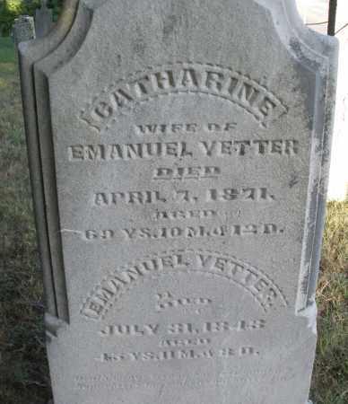 YETTER, CATHERINE - Montgomery County, Ohio | CATHERINE YETTER - Ohio Gravestone Photos
