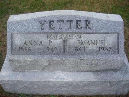 YETTER, EMANUEL - Montgomery County, Ohio   EMANUEL YETTER - Ohio Gravestone Photos