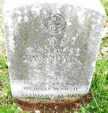 ZATARAIN, JOE COZALES - Montgomery County, Ohio   JOE COZALES ZATARAIN - Ohio Gravestone Photos