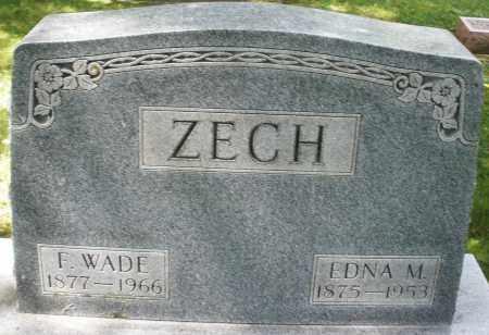 ZECH, F.WADE - Montgomery County, Ohio   F.WADE ZECH - Ohio Gravestone Photos
