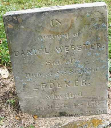 ZEDEKER, DANIEL WEBSTER - Montgomery County, Ohio   DANIEL WEBSTER ZEDEKER - Ohio Gravestone Photos