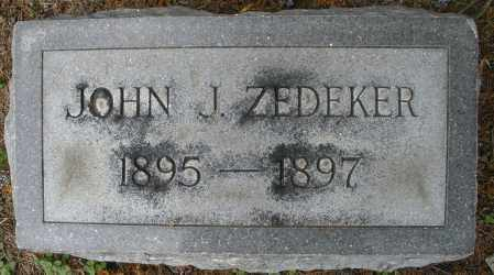ZEDEKER, JOHN J. - Montgomery County, Ohio | JOHN J. ZEDEKER - Ohio Gravestone Photos