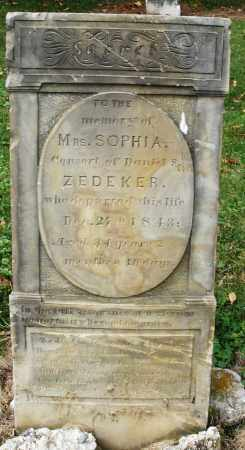 ZEDEKER, SOPHIA - Montgomery County, Ohio | SOPHIA ZEDEKER - Ohio Gravestone Photos
