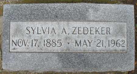 ZEDEKER, SYLVIA A. - Montgomery County, Ohio   SYLVIA A. ZEDEKER - Ohio Gravestone Photos