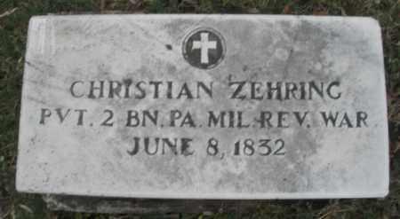 ZEHRING, CHRISTIAN - Montgomery County, Ohio | CHRISTIAN ZEHRING - Ohio Gravestone Photos