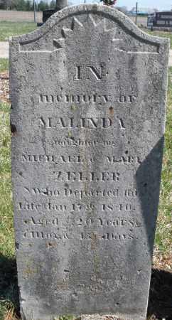ZELLER, MALINDA - Montgomery County, Ohio   MALINDA ZELLER - Ohio Gravestone Photos